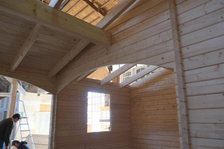Casa de madera 8500*8000*60 mm - premontaje