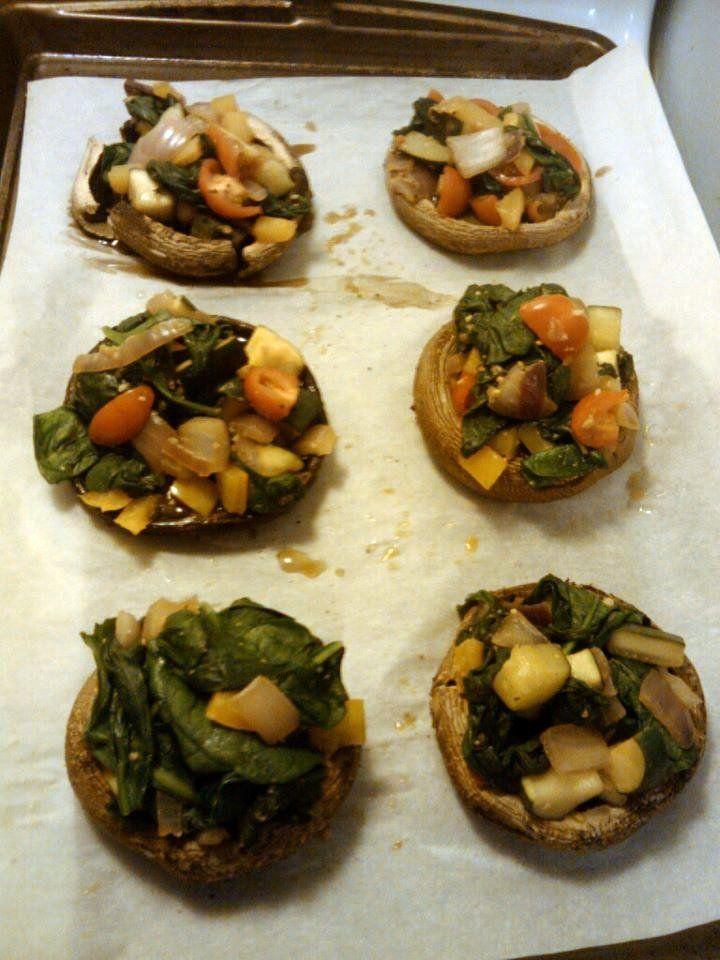 In the Kitchen & On the Run: TLS Detox Week 1: Stuffed Mushrooms