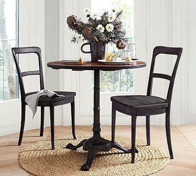 I can envision many a date nights / day dates at my new: Rae Bistro Table #mypotternbarn #newhomewhodis