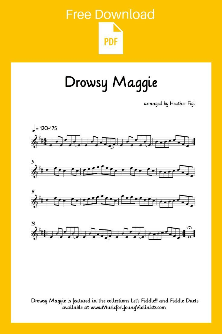 Drowsy Maggie Download The Sheet Music For This Favorite Fiddle