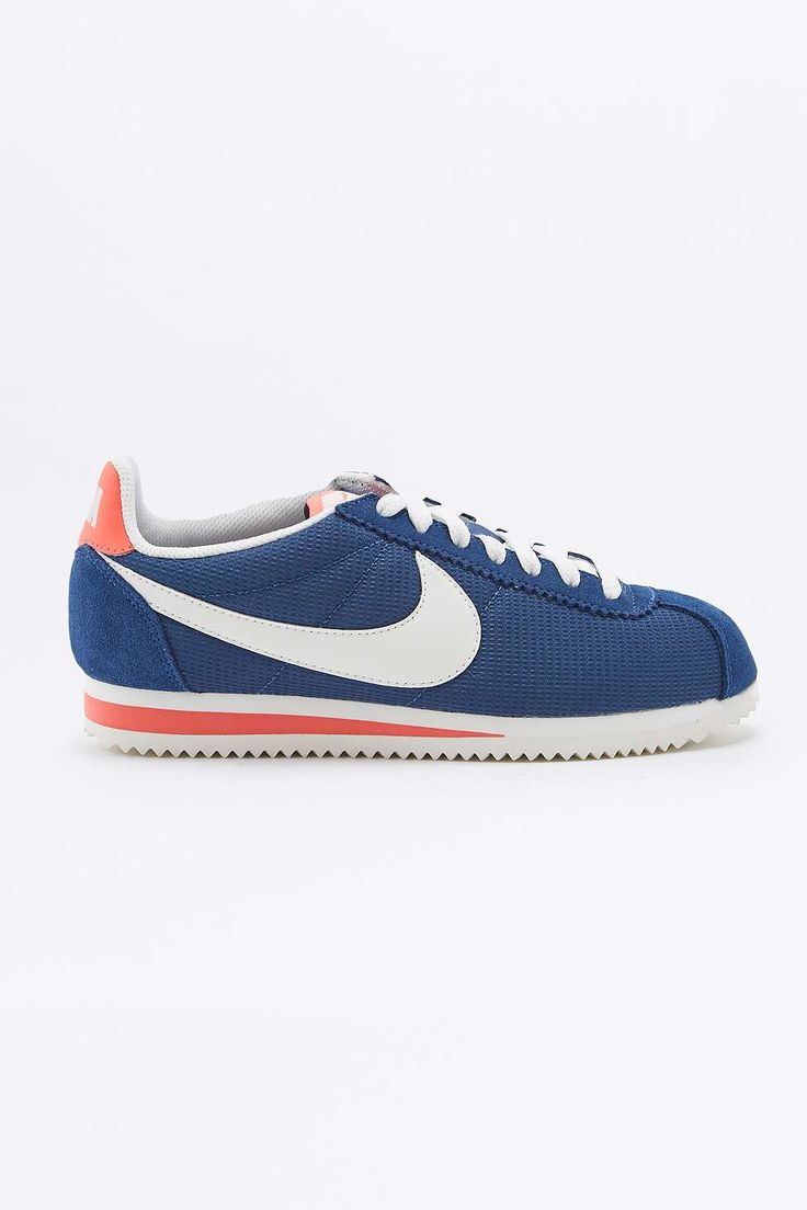Nike Classic Cortez Blue and White Trainers