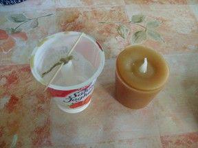 Basteln für Weihnachten - einfache Kerzen gießen für die Adventszeit