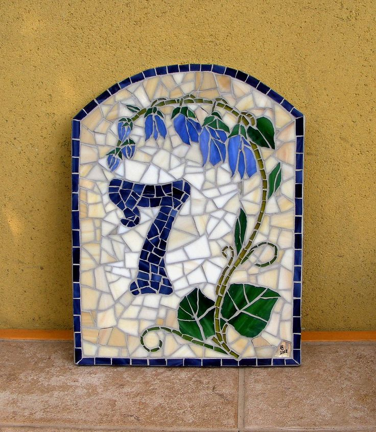 House number plaque - 7 Campanula Street | Stained glass on … | Flickr
