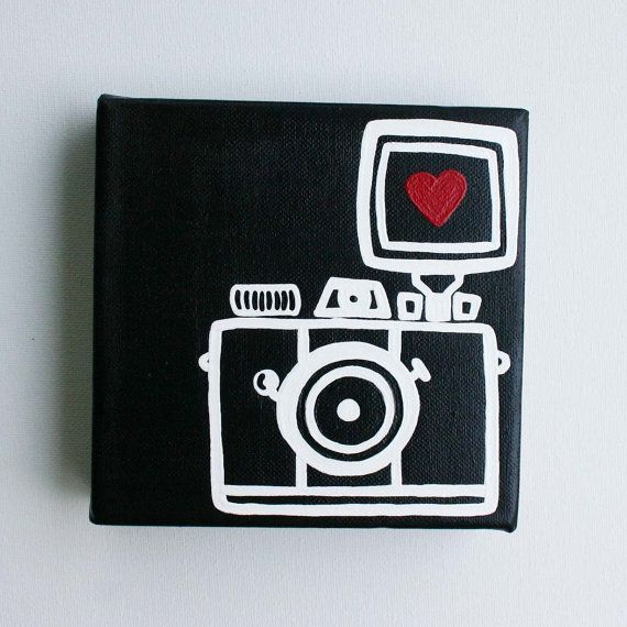 cute camera painting--shout out to my photog friends on Pinterest