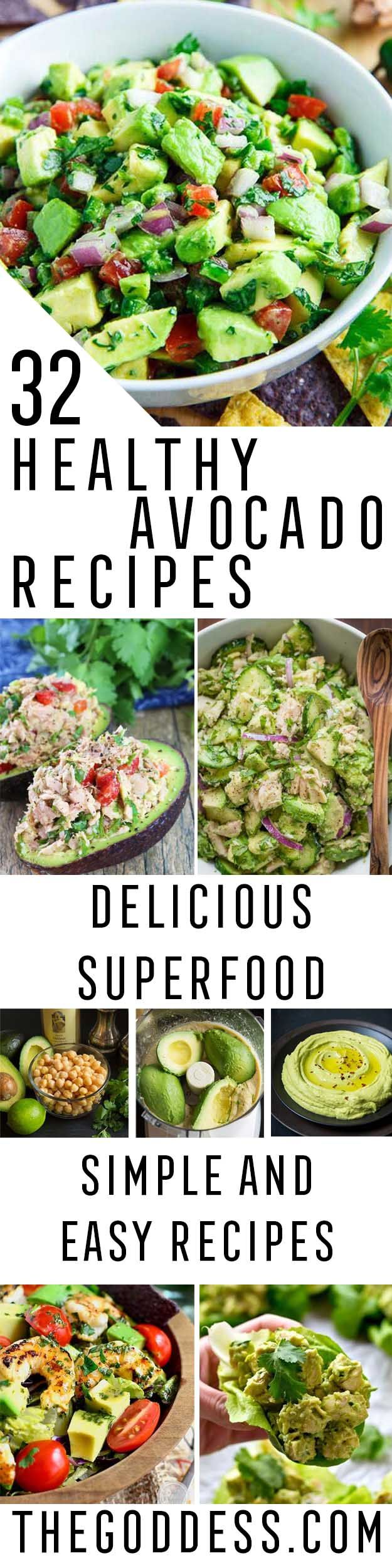 Healthy Avocado Recipes - Easy Clean Eating Recipes for Breakfast, Lunches, Dinner and even Desserts - Low Carb Vegetarian Snacks, Dip, Smothie Ideas and All Sorts of Diets - Get Your Fitness in Order with these awesome Paleo Detox Plans - thegoddess.com/