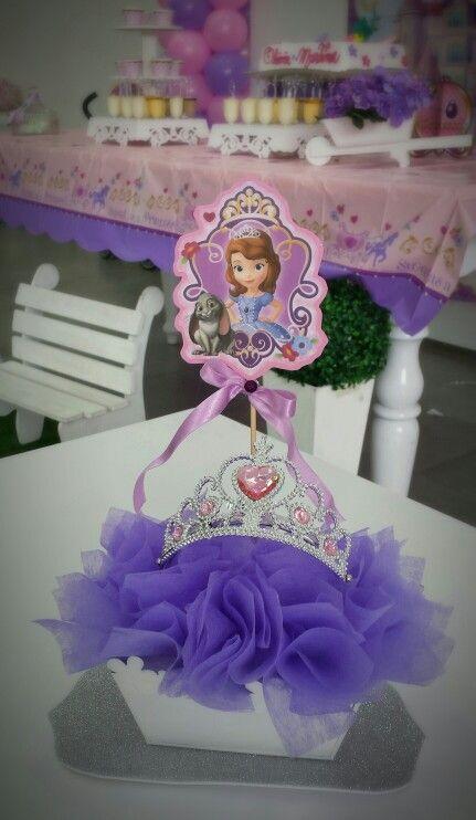 Centro de mesa princesa Sofia con corona                                                                                                                                                                                 Más
