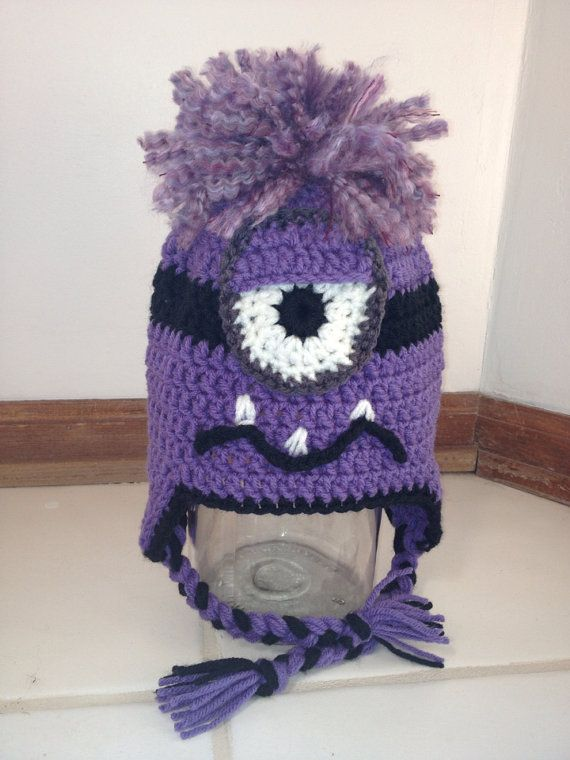 54 best crochet hats minions purple images on pinterest hand purple minion hat by quiltsbymspriggs on etsy dt1010fo