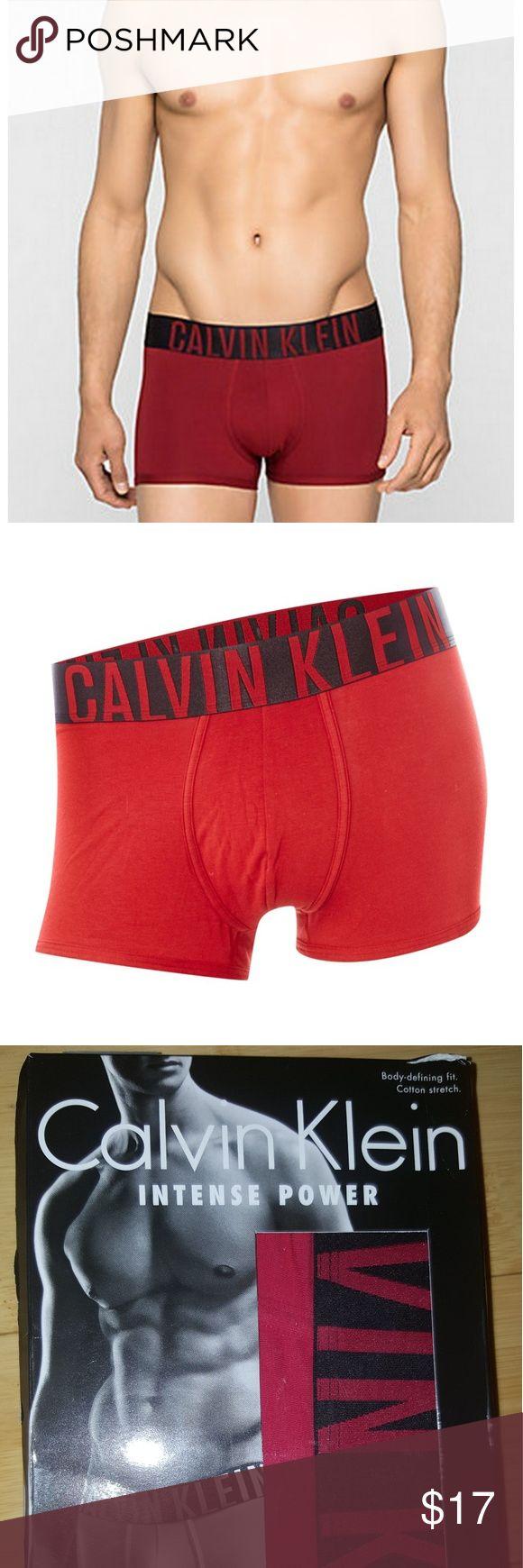 Calvin Klein INTENSE POWER Trunk Red Size Large Brand New Calvin Klein Men Trunk for sale half off Retail $30  Color: Red Size: Large Calvin Klein Underwear & Socks Boxer Briefs