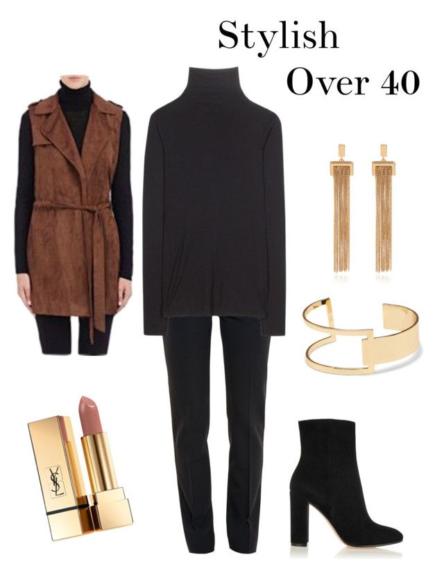 Stylish Over 40 on Polyvore featuring Velvet, Barneys New York, Chloé, Gianvito Rossi, Sole Society and Yves Saint Laurent