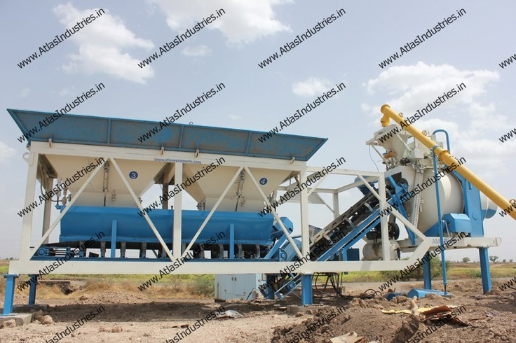Mobile RMC plant installed in Dhandhuka, Gujarat, India