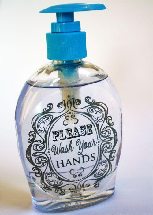 Embellished Liquid Hand Soap Diy Soap Dispenser Bottle