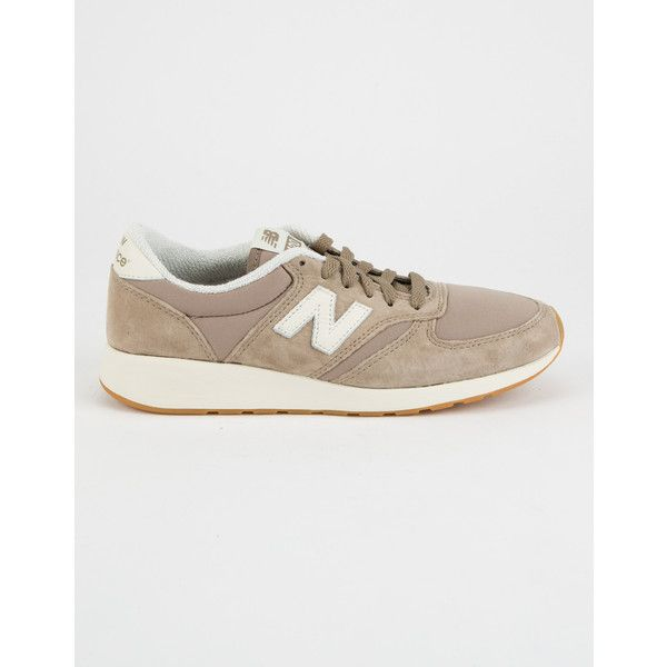 New Balance 420 Shoes ($76) ❤ liked on Polyvore featuring shoes, new balance, suede leather shoes, slim shoes, new balance footwear and new balance shoes