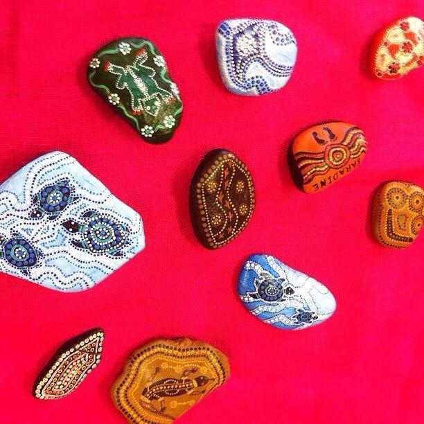 Aboriginal Art on rocks