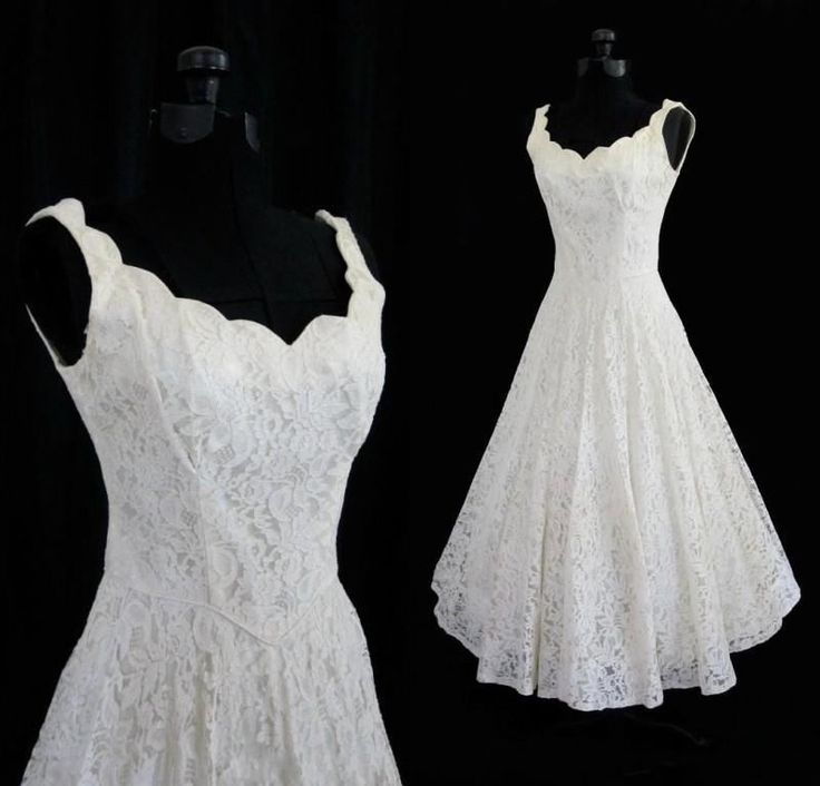 New White/Ivory Tea Length Short Vintage Lace Wedding Dress Size 6 8 10 12 14 16 in Clothing, Shoes & Accessories, Wedding & Formal Occasion, Wedding Dresses | eBay