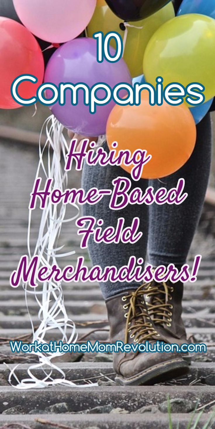 10  Companies Hiring Home-Based Field Merchandisers! Home-based field merchandising is a super flexible work from home opportunity. If you have an auto and Internet, a work at home field merchandising career could be perfect for you! Flexible too! WorkatHomeMomRevolution.com