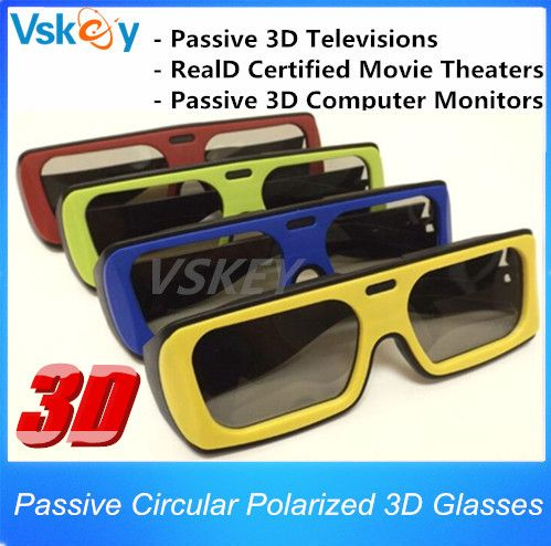 4pcs For Adult Polarized Passive 3D Glasses For Passive 3D Televisions RealD Movie 3D Movie Theaters 3D TV Cinema System
