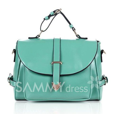 $12.77 Stylish Casual Vintage Women's Tote Bag With Candy Color and Belts Design