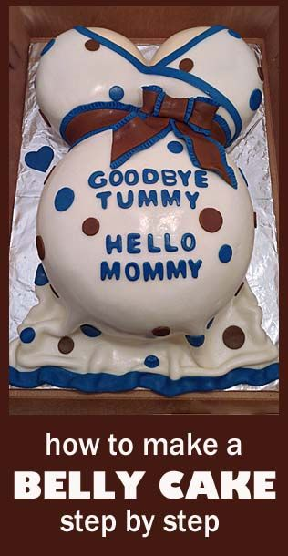 How to make a Baby Belly cake step by step