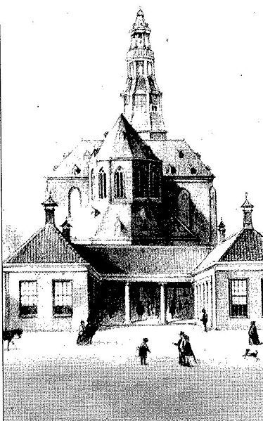 Aa church inde 2nd half in 19th Century./Aa kerk in de 2e helft Van De 19e Eeuw