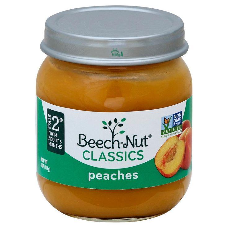 Beechnut classics baby food peach stage 2 4 months