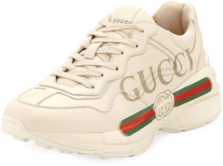 Gucci Rhyton Print Leather Trainer