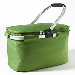 Green Insulated Collapsible Tote -- to temporarily store ice or other happy hour wares!   World Market