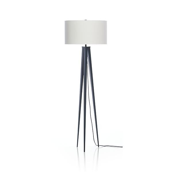 Theo Blue Floor Lamp  | Crate and Barrel