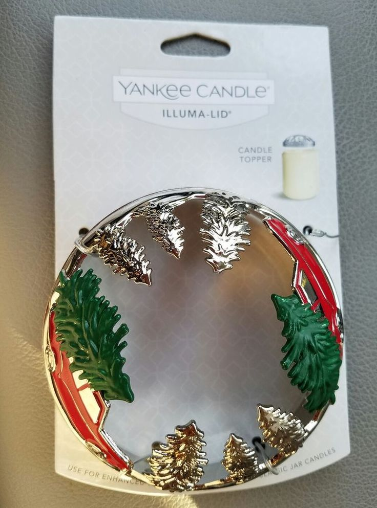 Very Rare - Yankee Candle Christmas Tree and Red Pickup Truck Illuma Lid  #YankeeCandle