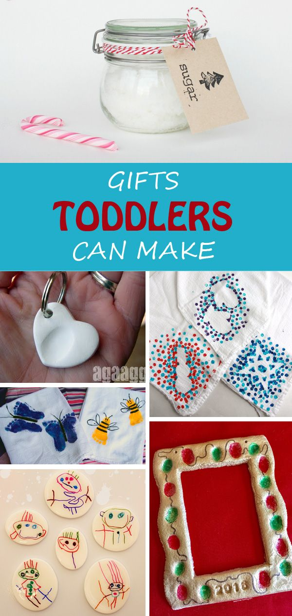 20 + Gifts for toddlers to make for Christmas, Mother's Day, Father's Day, birthdays, friends or neighbors. Simple and practical kid-made gifts. | at Non-Toy Gifts