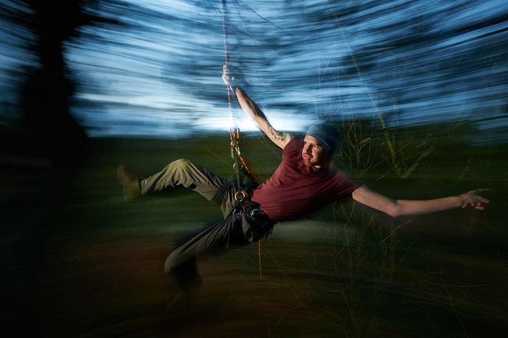Our Treetographer swinging like he means it!