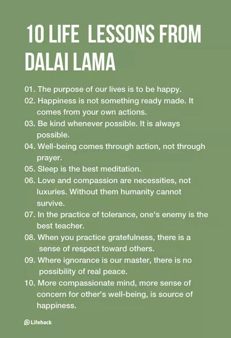 10 Inspirational Life Lessons From Dalai Lama                              …