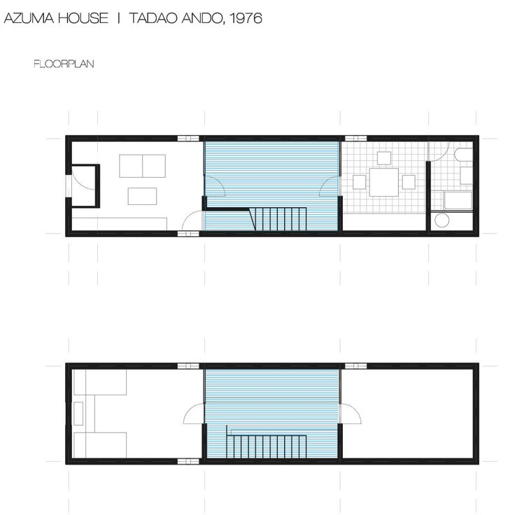 17 best images about tadao ando azuma house on pinterest for Row house dimensions