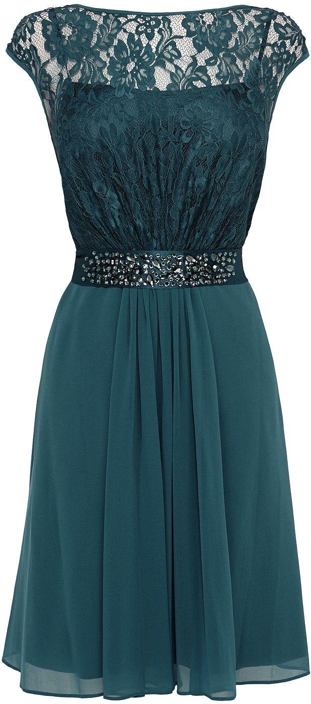Womens dark teal dress from Coast - £129 at ClothingByColour.com