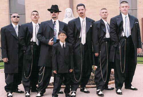 zoot suit wedding...I will always always luv this style...fck what ppl think.
