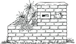 Boral - DIY letterbox - ideal height of elevation between 900-1200mm **not sure about bricks but like planter idea**