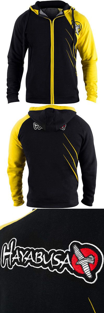 Hoodies and Sweatshirts 179770: Hayabusa Recast Series Athletic Fit Zip-Up Hoodie - Black Yellow - Boxing Mma -> BUY IT NOW ONLY: $79.99 on eBay!