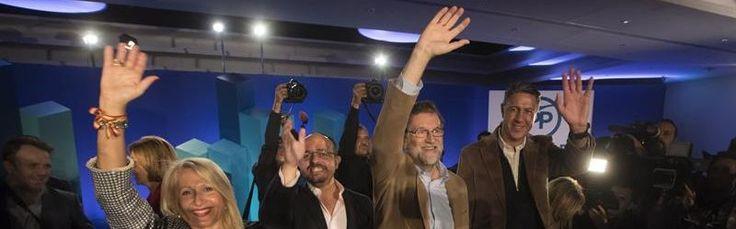 Rajoy pide que la mayoría silenciosa convierta su voz en voto masivamente
