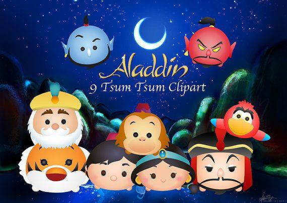 ALADDIN Tsum Tsum. 9 alta resolución Digital imágenes