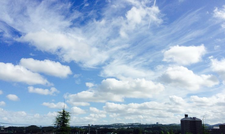 【P】風に流される雲。
