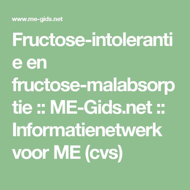 Fructose-intolerantie en fructose-malabsorptie :: ME-Gids.net :: Informatienetwerk voor ME (cvs)