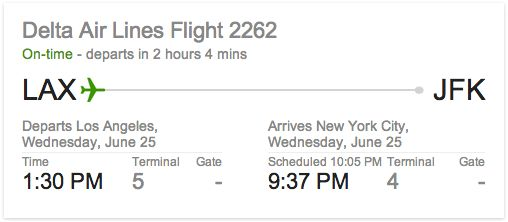 You can google your airline name and flight number to check the status of your flight.