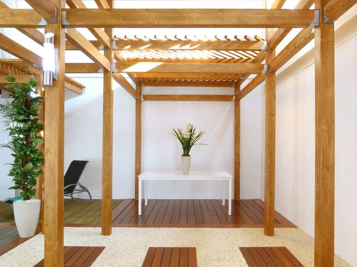 Estructura de madera para exteriores. Maderas Santana La Laguna