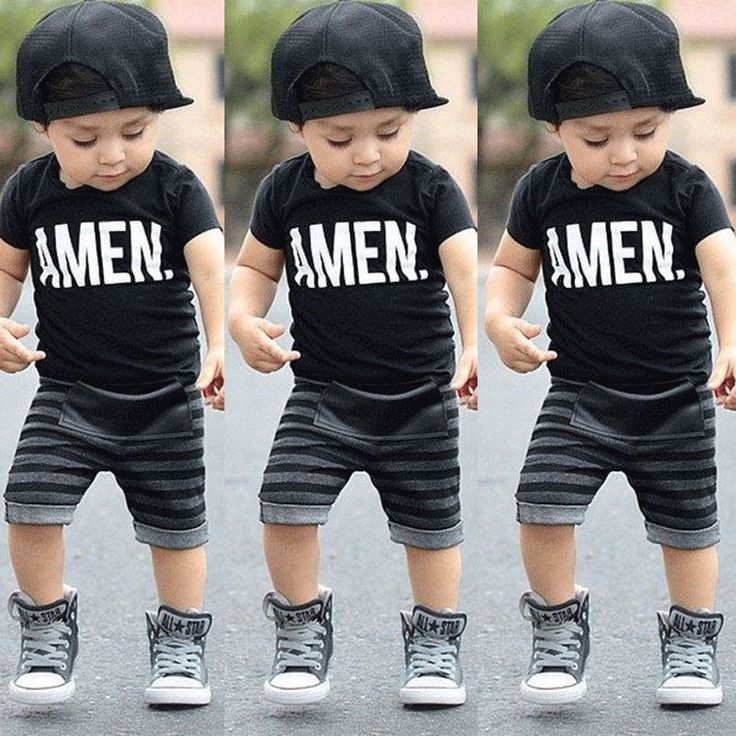 Boys Kids Baby Summer Short Sleeve T-shirt Tops Shorts Outfits Clothes Age 1-6Y | eBay