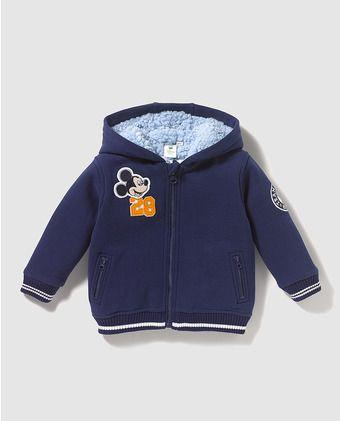 ca1e86b3 Sudadera de bebé niño Disney en azul con Mickey   MY WORK LICENCES!   Ropa  bebe, Niño bebé y Chaquetas niña