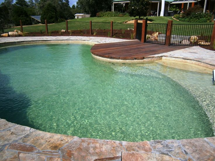 pool landscaping for rural property