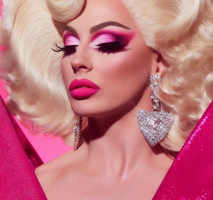 Drag Queen Makeup, Drag Makeup, Goth Makeup, Pink Makeup, Makeup Art, Eye Makeup, Hair Makeup, Makeup Shayla, Demon Makeup