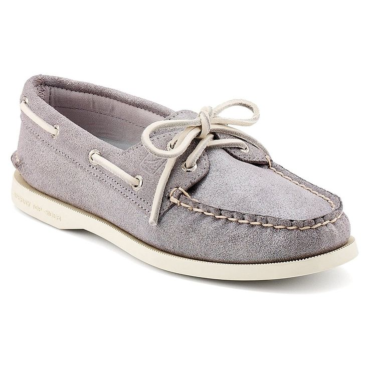 Sperry Women's A/O 2-Eye Shoes Silver Sparkle Suede -- For more information, visit image link.