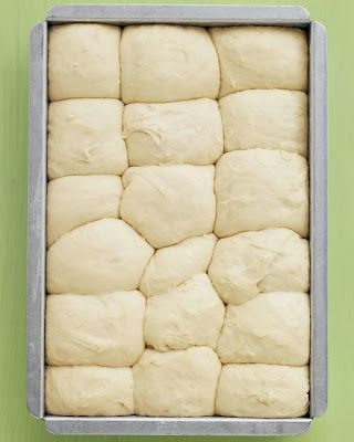 No-Knead Dinner Rolls ~ Even beginner-level bakers will have no trouble making these fluffy rolls; the dough can be prepped, put in the pan, and chilled up to a day ahead