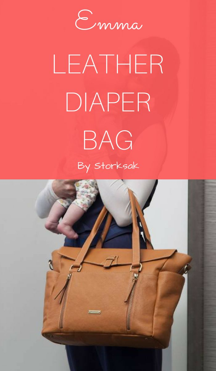 This is Emma - a brown leather diaper bag by Storksak (http://shopstyle.it/l/caB3). This stylish diaper bag purse has many pockets inside and out. You'll love its insulated bottle pocket and coordinating changing mat. Wear it as a purse or as a crossbody bag with an adjustable shoulder strap. You can attach the bag to your stroller too. {Ad}