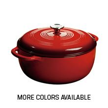 7.8 Qt. Dutch Ovens DUTCH OVENS AND CASSEROLES These precise castings and tight-fitting lids absorb and retain heat extremely well. Clean up is a snap and you can marinate, cook, serve, and store food in these versatile vessels. The only hard part is deciding which vibrant color is your favorite.